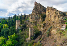 Ruins and towers of Narikala Fortress in Tbilisi, Georgia Royalty Free Stock Image
