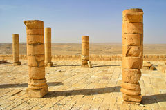Ruins of town of Avdat in Israel. Royalty Free Stock Photos