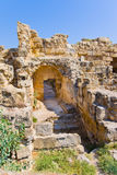 Ruins in town Salamis, Northern Cyprus Royalty Free Stock Images
