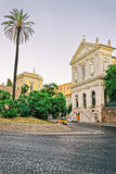 Ruins of Trajan Forum in the Old City in Italy Royalty Free Stock Photos