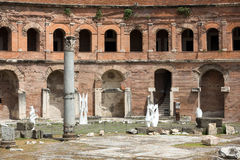 The ruins of Trajan's Market Stock Images