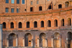 Ruins of Trajan's Market (Mercati di Traiano) in Rome Royalty Free Stock Photography