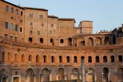 Ruins of Trajan's Market (Mercati di Traiano) in Rome during sun Stock Images