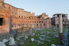 Ruins of Trajan's Market (Mercati di Traiano) in Rome during sun Stock Photography