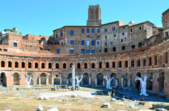 The ruins of Trajan& x27;s Market in Rome. Italy Stock Images