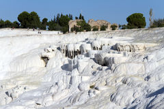 Ruins and travertine Royalty Free Stock Images