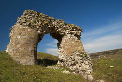 Ruins of the Tropaeum Traiani fortress in Dobrogea Stock Photography