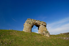 Ruins of the Tropaeum Traiani fortress in Dobrogea Stock Image