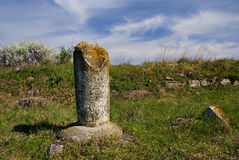 Ruins of the Tropaeum Traiani fortress in Dobrogea Royalty Free Stock Image