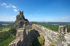 Ruins of Trosky castle Royalty Free Stock Photos
