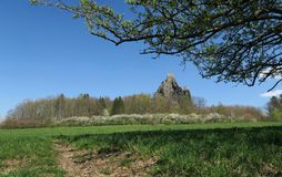 Ruins of Trosky Castle in the Bohemian Paradise. In the eastern part of the Czech Republic royalty free stock image