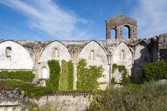 Ruins in Trujillo. Ruins of a church in the town of Trujillo, Extremadura, Spain Royalty Free Stock Photos