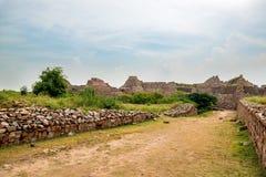 Ruins of Tughlaqabad Fort in Delhi, India Stock Photo