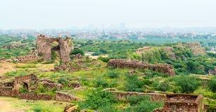 Ruins of Tughlaqabad Fort in Delhi, India Stock Images