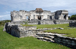 Ruins of Tulum. Mayan ancient ruin in archaeological site of Tulum, Mexico stock photo