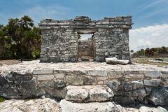 Ruins in Tulum. Ancient ruins in national park Tulum in Mexico Stock Image