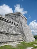 Ruins at Tulum Archaeological Site on Mexico`s Caribbean Coast stock images