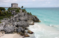 Ruins of Tulum - Mexico. Nayas Ruins of Tulum in Mexico stock photography