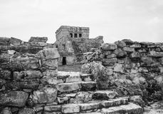 Ruins in Tulum Mexico stock photography