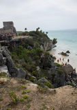 Ruins in Tulum Mexico royalty free stock photography