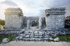 Ruins at Tulum, Mexico Royalty Free Stock Photo