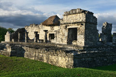 Ruins at Tulum, Mexico. Old touristic ruins at Tulum, Mexico Royalty Free Stock Photo
