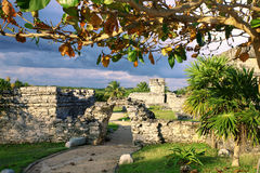 Ruins at Tulum, Mexico. Old touristic ruins at Tulum, Mexico Stock Image
