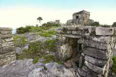Ruins at Tulum, Mexico. Old touristic ruins at Tulum, Mexico Royalty Free Stock Images
