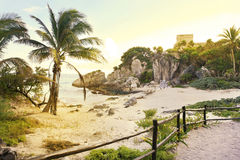 Ruins at Tulum, Mexico Stock Photography
