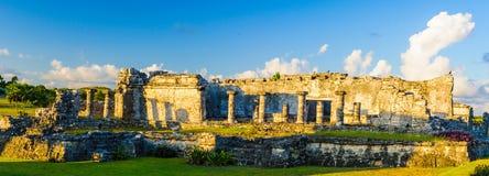 Ruins of Tulum. Panorama of the ruins of Tulum, Mayan city, Yacatan, Mexico Stock Photography