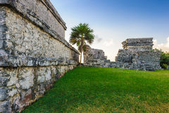 Ruins of Tulum. Tulum, typical architecture of Maya sites on the east coast of the Yucatan Peninsula royalty free stock photography