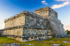 Ruins of Tulum. Tulum, typical architecture of Maya sites on the east coast of the Yucatan Peninsula Royalty Free Stock Photo