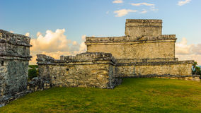Ruins of Tulum. Tulum, typical architecture of Maya sites on the east coast of the Yucatan Peninsula stock photography