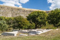 Ruins of the Turkish baths in Old Orhei Stock Images