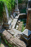 Ruins of Turkish baths of the XV century Bey Hamam Stock Photography