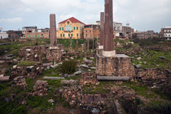 Ruins in Tyre Stock Images