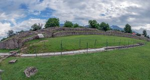 Ruins of the Ulpia Traiana Sarmizegetusa fortress, Romania Royalty Free Stock Images