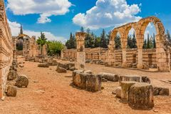 Ruins of the Umayyad Aanjar Anjar Beeka Lebanon Royalty Free Stock Photography