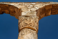 Ruins of the umayyad medieval city Anjar. Lebanon stock photo