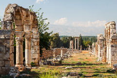 Ruins of the umayyad medieval city Anjar Stock Photography
