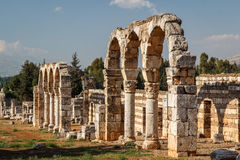 Ruins of the umayyad medieval city Anjar Royalty Free Stock Images