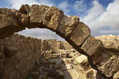 Ruins of Umm Ar-Rasas - King's Highway in Jordan Royalty Free Stock Image