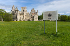 The ruins of the Ungru manor, Estonia Royalty Free Stock Photo