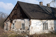 Ruins of uninhabited old rural house Stock Image