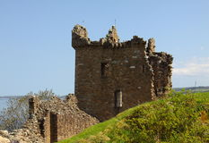 Ruins of Urquhart. Urquhart Castle located on the shore of Loch Ness in Scotland Stock Photos