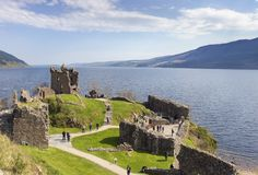 Urquhart Castle, Scotland. royalty free stock images