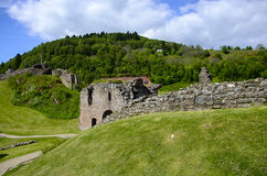 Ruins at Urquhart Castle Stock Photography