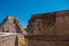 Ruins of Uxmal, an ancient Maya city of the classical period. One of the most important archaeological sites of Maya culture. Yuca. Ruins of Uxmal, an ancient royalty free stock photography