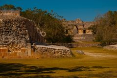 Ruins of Uxmal, an ancient Maya. One of the most important archaeological sites of Maya culture. Yucatan, Mexico. Ruins of Uxmal, an ancient Maya city of the stock photos