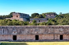 Ruins of Uxmal - ancient Maya city. Yucatan.  Mexico stock image